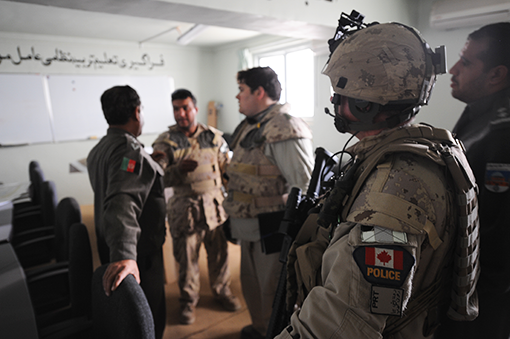 Canadian RCMP members in Afghanistan