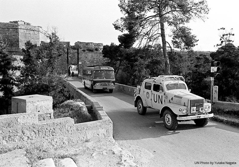 UN Cyprus 1960s car