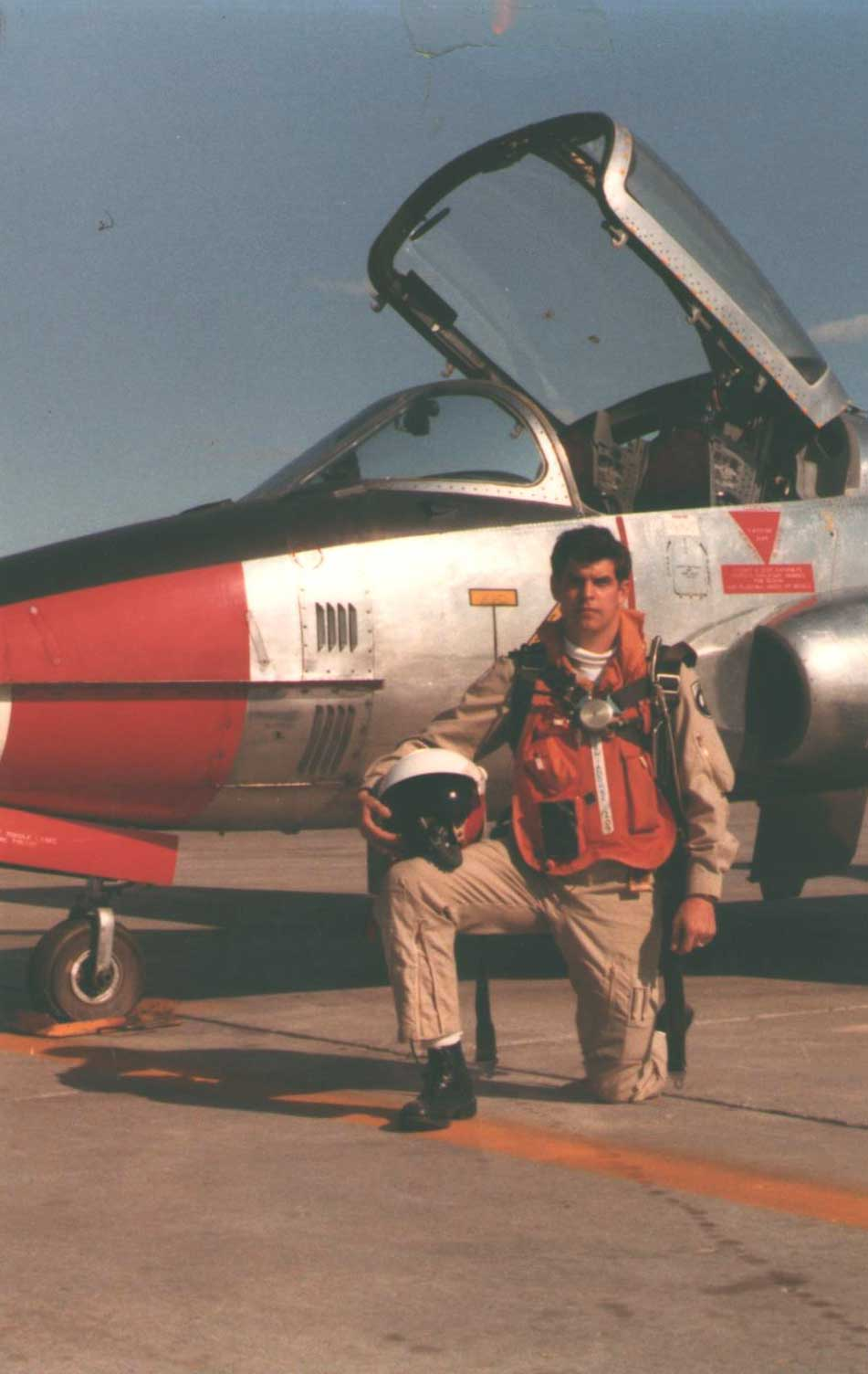 David B canadian armed forces in front of tutor jet