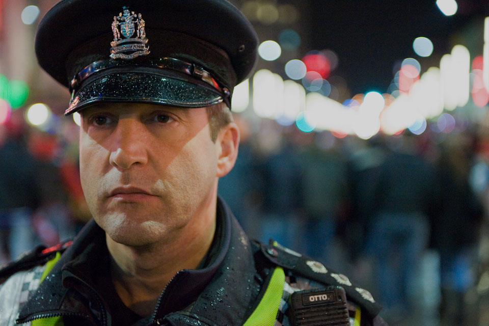 Tony Z Police Officer on Granville Street