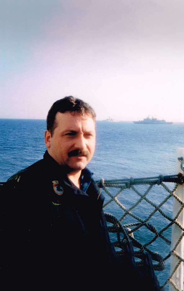 Greg B on Canadian Navy Ship