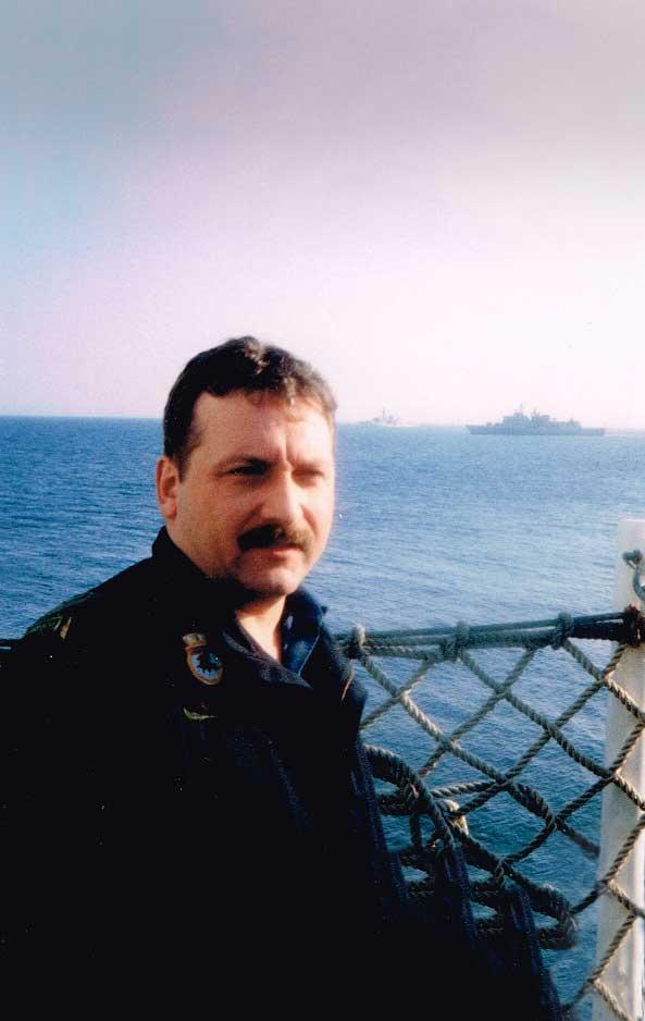 Greg B on Canadian Navy Ship