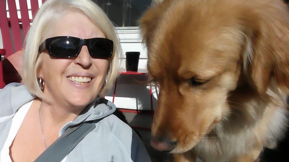 Kim M and Dog