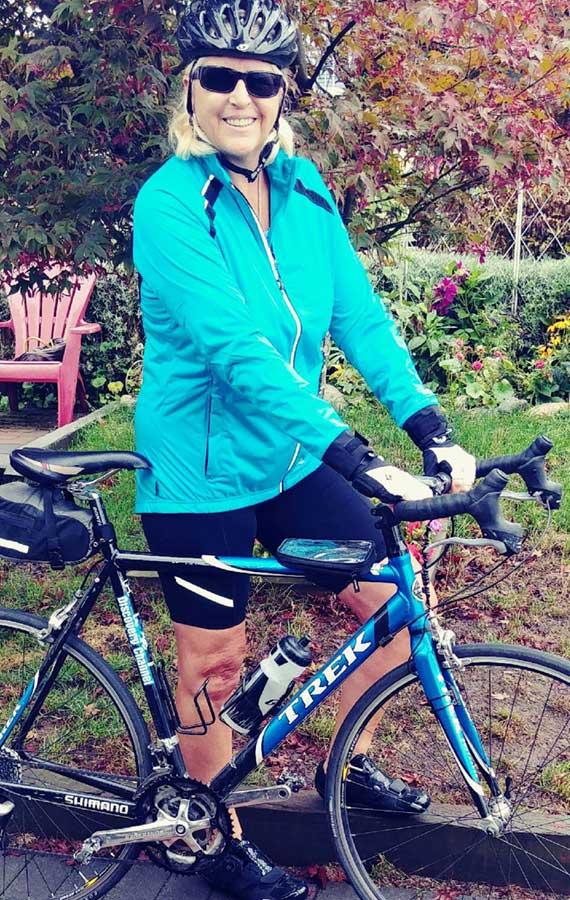 Kim M with bike