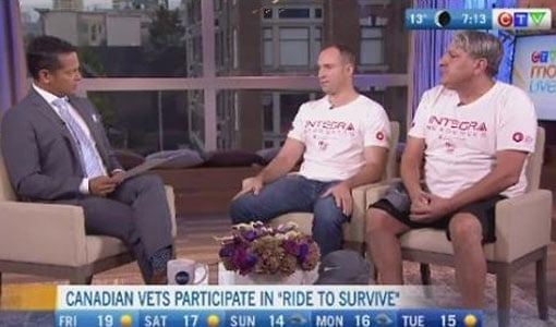 veterans ride to survive interview at ctv